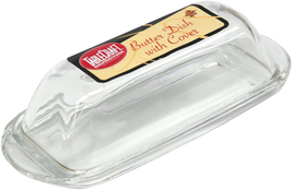 Clear Glass Butter Dish NEW - $12.36