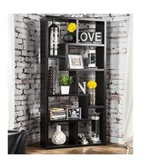 Modern Transitional Wood Display Cabinet with 8 Shelves - Includes Modha... - $231.58