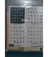 Stampin' Up Set of 4 Stamps Alphabits Alphabet - $25.00
