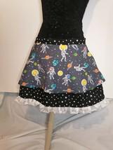cute kawaii spaceman in space skirt handmade skirt with pockets - $35.23