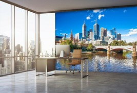 3D City Highway P30 Business Wallpaper Wall Mural Self-adhesive Commerce An - $13.49+