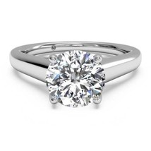 1CT Hearts and Arrows Moissanite Solitaire Engagement Ring 14K White Gold 6.5MM - €719,22 EUR+