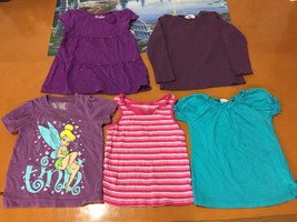 Lot of 5 Baby Girls Toddlers Children's Place Purple Pink Blue T-Shirts Size 3T - $18.80