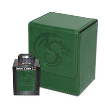 24x BCW GAMING DECK CASE BOX - LX -GREEN - Leatherette with Magnetic Clo... - $237.50