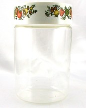 Pyrex Spice of Life 1.75 Qt Store n See Canister w/ Plastic Lid ~ Made in USA image 2