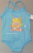 Infant Girls 18M bathing suit swimwear NEW Blue Beach 1pc Swim Swimsuit - $7.00