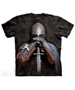 Knight Figure in Armor with Sword Art Tie-Dye T-Shirt, Size Small NEW UN... - $14.50