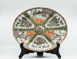 Antique Chinese Rose Medallion Porcelain Dish, 14 x 11.5 inches -  - $321.75