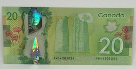 Canadian 2012 $20 Radar Note Frontiers issue Serial # FWD4305034 - $38.69