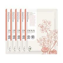 Inna Organic ROSE GERANIUM SOOTHING SKIN SHEET MASK, Skin Calming, After... - $53.12