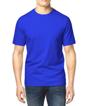NEW MENS CLUB ROOM CREW NECK BLUE SHORT SLEEVE COTTON T SHIRT TEE S - $8.99