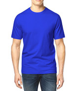 NEW MENS CLUB ROOM CREW NECK BLUE SHORT SLEEVE COTTON T SHIRT TEE S - $8.09