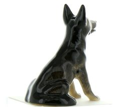 Hagen Renaker Dog German Shepherd Sitting Ceramic Figurine image 5