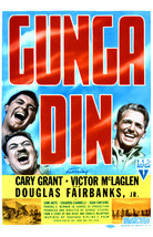 Cary Grant and Victor McLaglen and Douglas Fairbanks Jr. in Gunga Din 16x20 Canv - $69.99