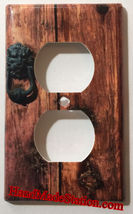 Rustic Barn Wood Door image Light Switch Outlet Wall Cover Plate Home Decor image 4