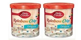 Betty Crocker Original Rainbow Chip Frosting, 16 oz. Pack of 2
