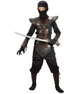 Kids Like Leather Ninja Fighter Costume Dress Up Cosplay Brown Large - $14.84