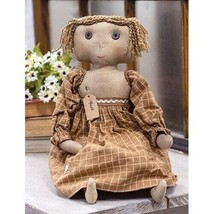 Beth Doll - Primitive Tea Stained Fabric Cloth Girl Doll  - $47.99