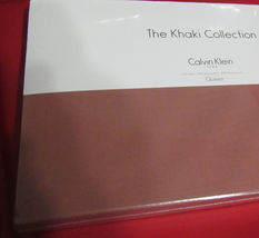 CALVIN KLEIN PER-CALAMINE QUEEN FLAT SHEET 200TC 100%COTTON SOLID NEW NE... - $94.90