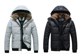Fashion belt hat men keep warm with thick cotton-padded clothes thick coat - $51.30