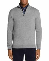 Mens Store Bloomingdales Quarter Zip Merino Wool Sweater Mens XL Ribbed B13-02M - $35.77