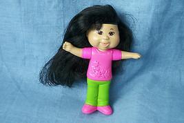 "2007 Cabbage Patch Kids Girl Doll Burger King Black Hair 4"" - $1.19"
