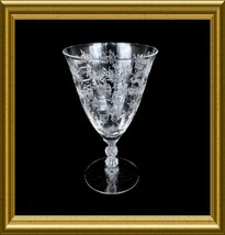 "Fostoria ""Chintz"" Crystal Low Water Goblet - $18.00"