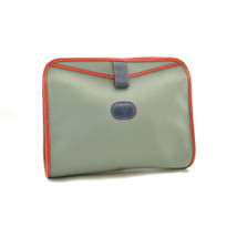 VALENTINO GARAVANI Leather Clutch Bag Turquoise Blue Red Auth ar1538 - $99.00