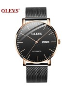 OLEVS 2019 Design Sport Mechanical Watch Ultra-thin Automatic Men Waterp... - $80.37