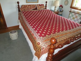 """Multi-Color WOVEN, REVERSIBLE BED COVER or THROW w/2 Pillow Covers - 80""""... - $35.00"""