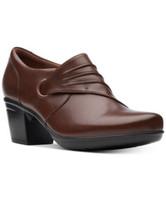 CLARKS Emslie Willa Women's Brown Sz 10 M Leather Zip Bootie Shoes Shooties $110 - $48.90