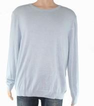 NWT  Tasso Elba Men's Cotton Blend Lightweight Crewneck Sweater Blue Siz... - $24.74