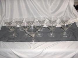 12 Vintage Fostoria Crystal Glass Pine Champagne Sherbet Goblets 10 oz - $143.55