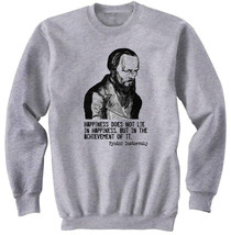 Dostoevsky 4 - New Cotton Grey SWEATSHIRT- All Sizes - $31.88
