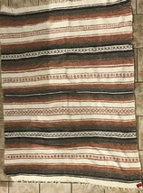 Southwestern aztec Throw Blanket 48X66  made in Mexico - $19.79