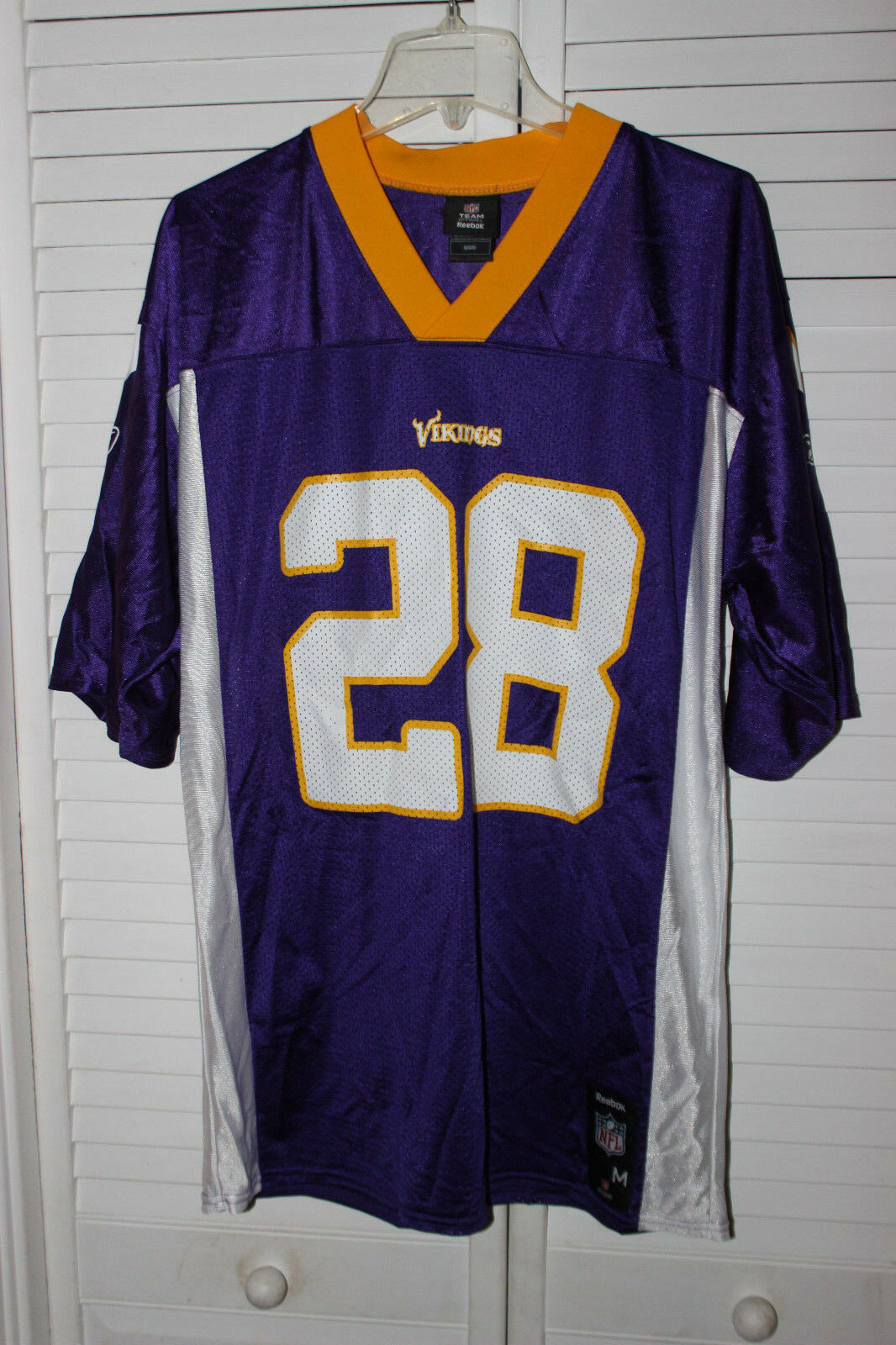 Primary image for NFL TEAM APPAREL MINNESOTA VIKINGS #28 ADRIAN PETERSON FOOTBALL JERSEY ADULT M