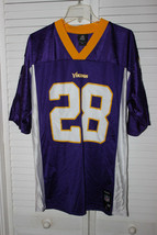 NFL TEAM APPAREL MINNESOTA VIKINGS #28 ADRIAN PETERSON FOOTBALL JERSEY A... - $29.99