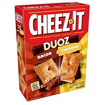 Cheez-It DUOZ Baked Snack Cheese Crackers, Bacon & Cheddar, 12.4 oz Box - $10.29