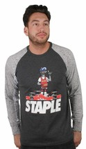 Staple Charcoal For The Luv of collecting Shoes Long Sleeve T-Shirt NWT