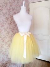 Yellow Ballerina Tulle Skirt Women Girl Midi Tulle Tutu Skirt Custom Plus Size image 5