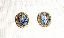 Vintage Mosaic Confetti Glass Earrings - $4.99