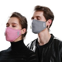 Washable Face Mask Anti-Dust Flu Reusable Respirator Masks with 2 carbon filter image 5
