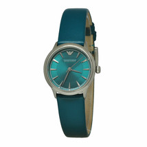 Emporio Armani Teal/Silver Quartz Analog Women's Watch AR1804 - $199.99