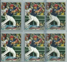 6 CARD LOT 2018 TOPPS UPDATE US300 JUAN SOTO RC NATIONALS FREE SHIPPING - $49.99