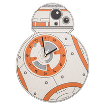 Star Wars: The Force Awakens BB-8 Shaped Deco Cordless Wall Clock, NEW S... - $25.15