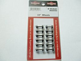"""Intermountain # 60050 33"""" Brass Insulated Wheelsets, Axle length .055"""" N-Scale  image 4"""
