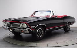 1969 Chevrolet Chevelle SS black vert 24X36 inch poster, sports car, mus... - $18.99