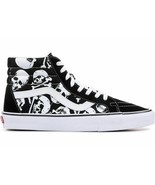Vans Sk8-Hi Reissue Skulls Black/True White Hi-Top Skate Shoes - $64.99