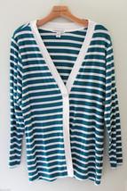 NWT Coldwater Creek Beautiful Prima Knit Striped Cardigan Sweater M 10 12 $60 - $42.00