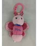 "Garanimals Pink Butterfly Musical Plush Clip On 6"" Lights Stuffed Animal... - $10.95"